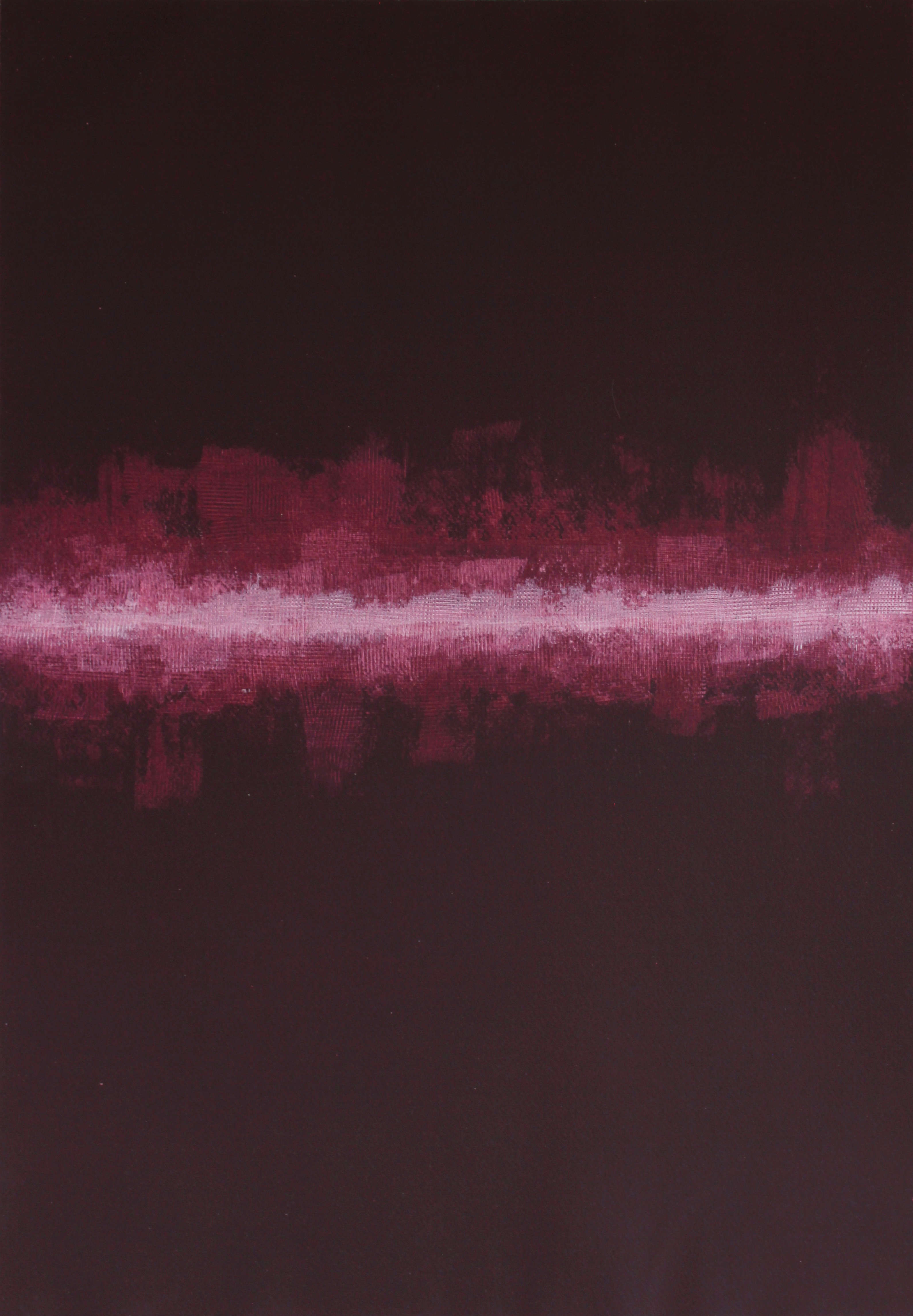 The Phase Transition of a Person Who Matters - Abstract Painting By John Lally